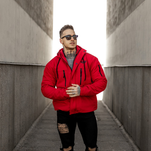 Mikina Triumph Over Pain - čierno-červená