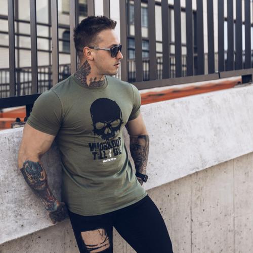 Kulturistické tričko Rule Nr.1 - Iron Clothing, sivé