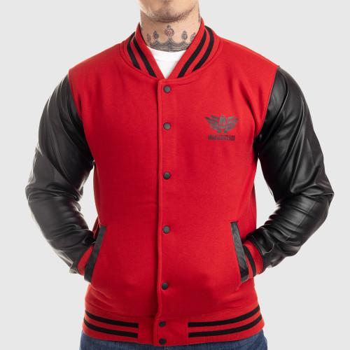Kulturistická mikina IRON MAN, čierno-červená