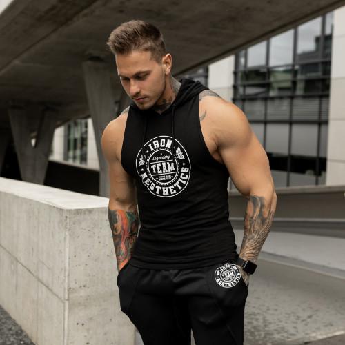 Jogger tepláky IRON Clothing, čierno-biele