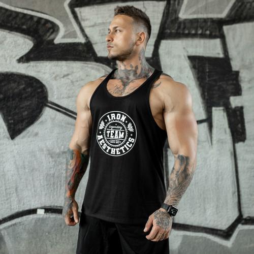 Kulturistické tričko IRON MAN, sivé