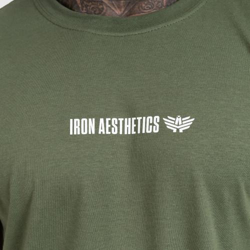 Kulturistické tričko Iron Black on black Flat, čierne