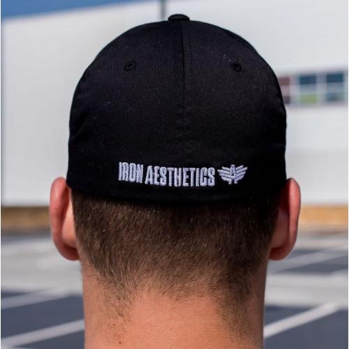 Pánská kšiltovka Iron Aesthetics FlexFit, černá