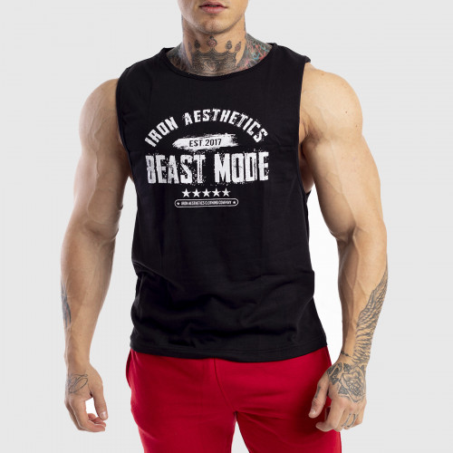 Pánské fitness TÍLKO Iron Aesthetics Beast Mode Est. 2017, černé
