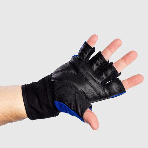 Fitness rukavice Iron Aesthetics, modré