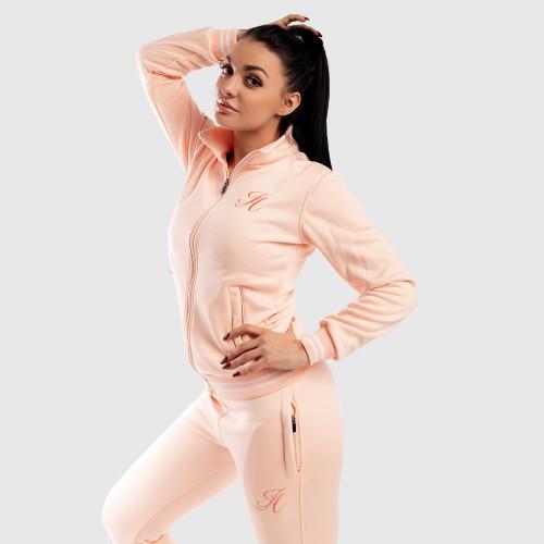 Dámská Fitness mikina se zipem Iron Aesthetics, růžová