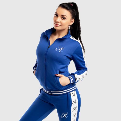 Dámská Fitness mikina se zipem Iron Aesthetics Striped, modrá