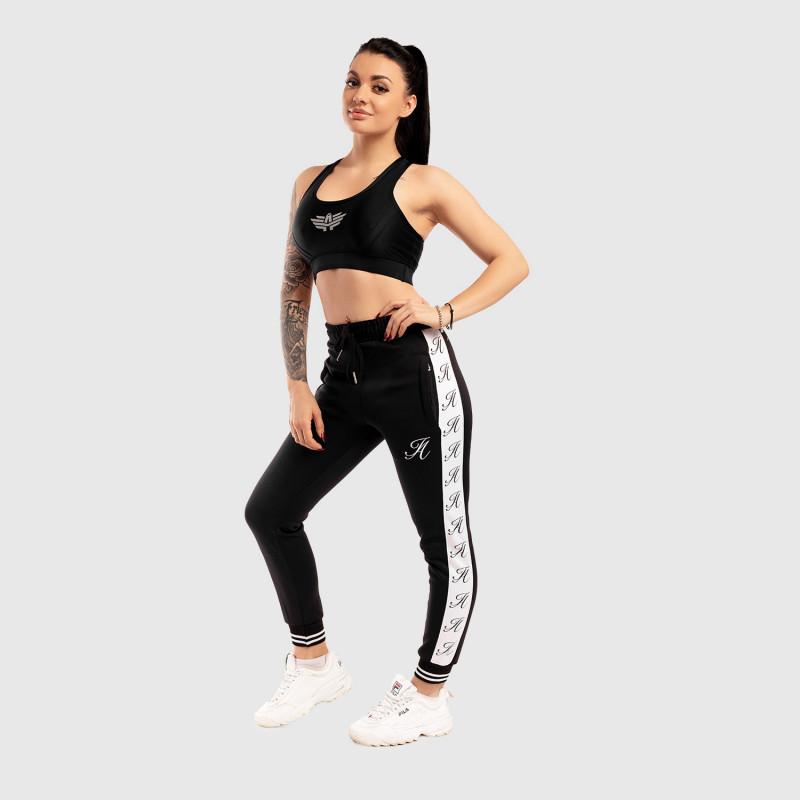 Dámské fitness tepláky Iron Aesthetics Striped, černé-4