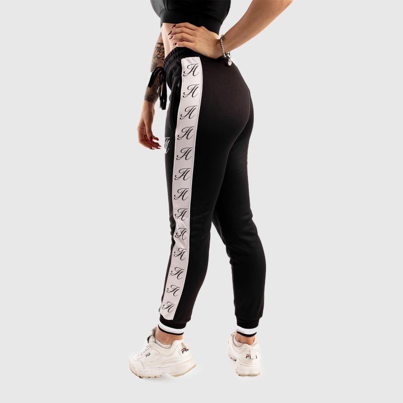Dámské fitness tepláky Iron Aesthetics Striped, černé-12