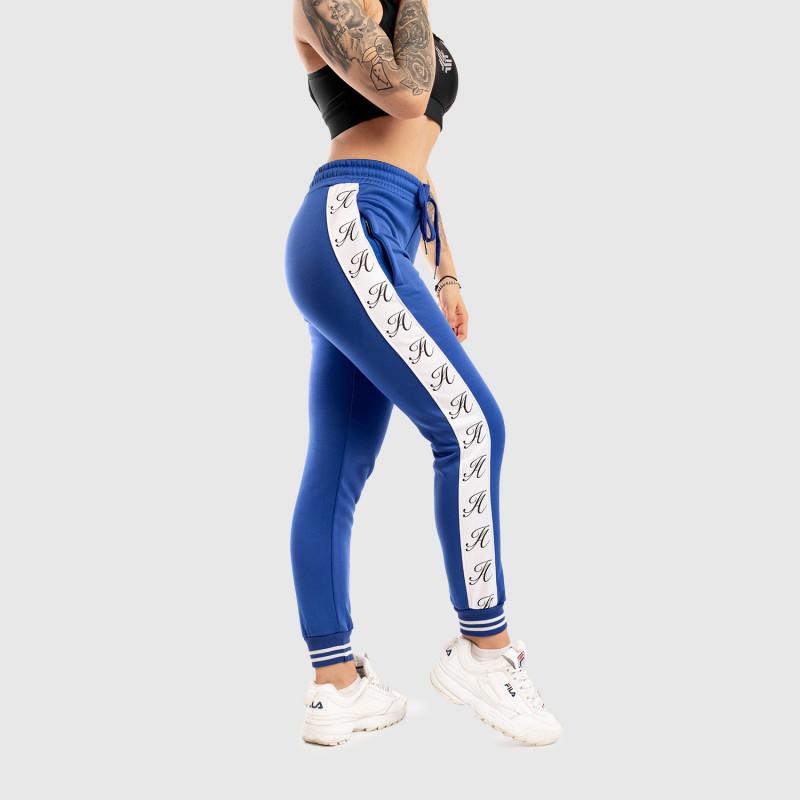 Dámské fitness tepláky Iron Aesthetics Striped, modré-1