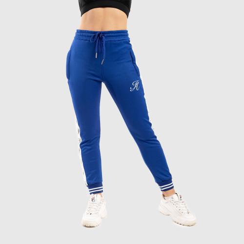 Dámské fitness tepláky Iron Aesthetics Striped, modré