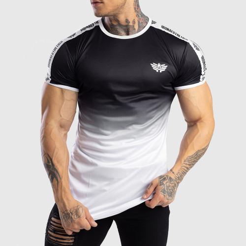 Pánské tričko Iron Aesthetics FADED STRIPES, černo - bílé