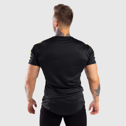 Pánské tričko Iron Aesthetics STRIPES, černo-zlaté