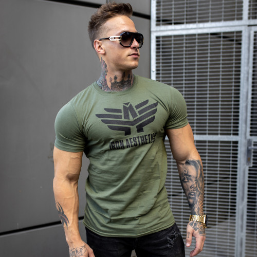 Ultrasoft tričko Iron Aesthetics, vojenská zelená