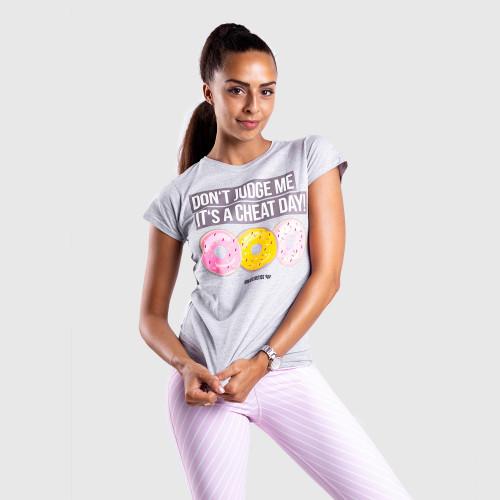 Dámské fitness tričko Iron Aesthetics DONUTS, šedé