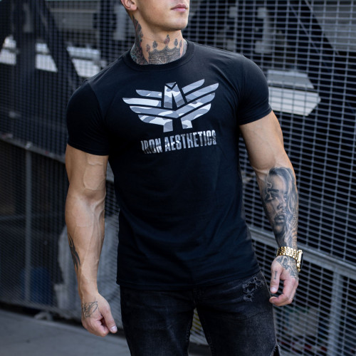 Ultrasoft tričko Iron Aesthetics, černý maskáč