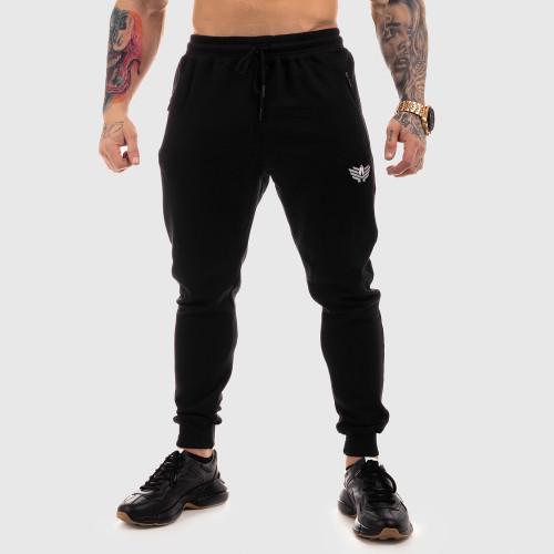 Jogger tepláky Iron Aesthetics Round, černé