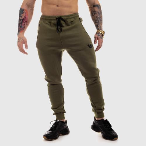 Jogger tepláky Iron Aesthetics Round, zelené