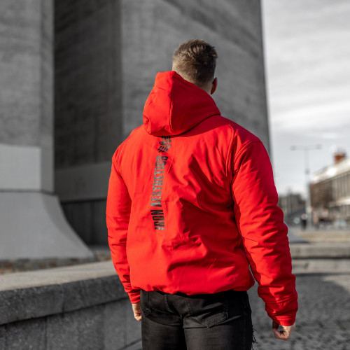 Pánská Softshellová bunda Iron Aesthetics, červená