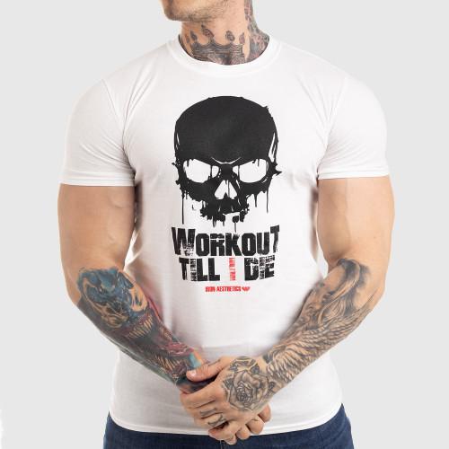 Ultrasoft tričko Workout Till I Die, bílé