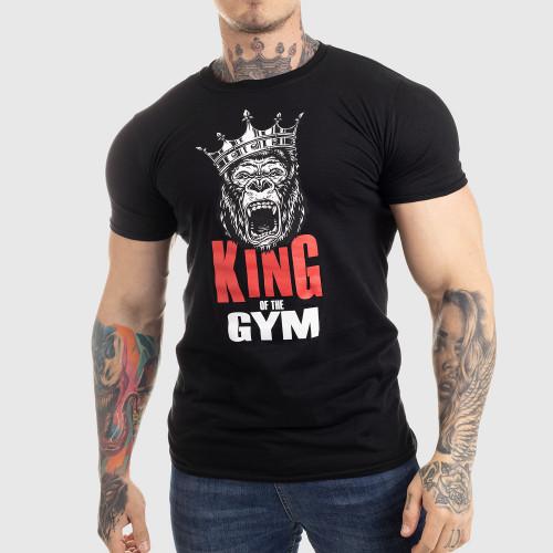 Ultrasoft tričko Iron Aesthetics King of the Gym, černé