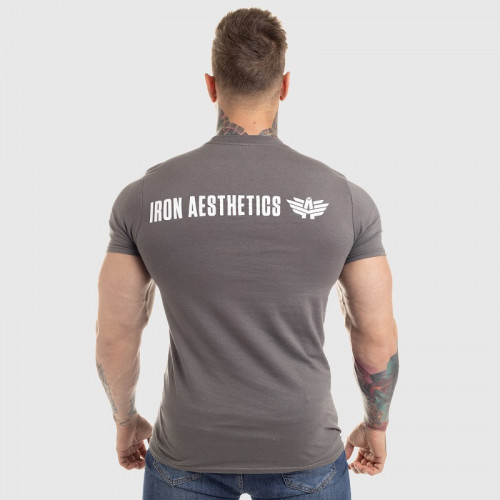 Ultrasoft tričko Iron Aesthetics King of the Gym, šedé