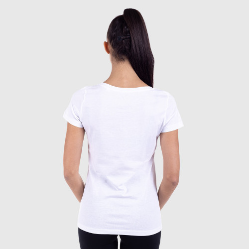 Dámské fitness tričko Iron Aesthetics Light Flowers, bílé