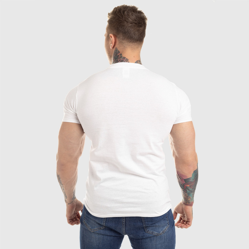 Pánské fitness tričko Iron Aesthetics Circle Star, bílé-2