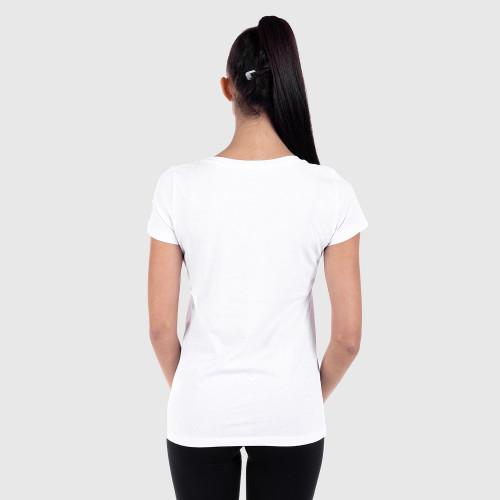 Dámske fitness tričko Iron Aesthetics Light Gepard, bílé