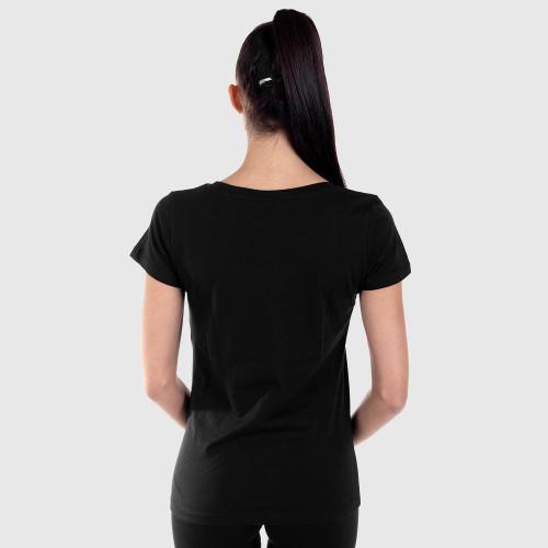 Dámské fitness tričko Iron Aesthetics Light Dots, černé
