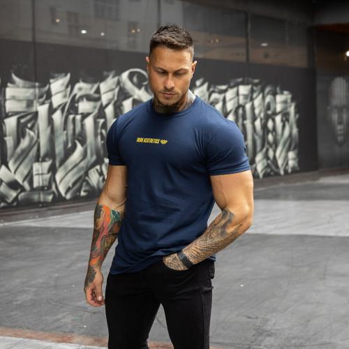 Ultrasoft tričko Iron Aesthetics STRONGMAN, navy
