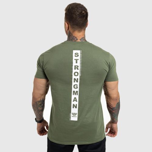Ultrasoft tričko Iron Aesthetics STRONGMAN, vojenská zelená