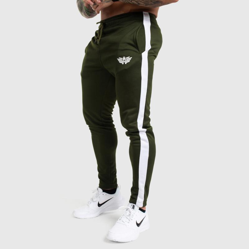 Jogger tepláky Iron Aesthetics Sport Track, zelené-1