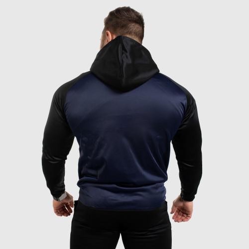 Fitness mikina se zipem Iron Aesthetics SLEEVE, modrá