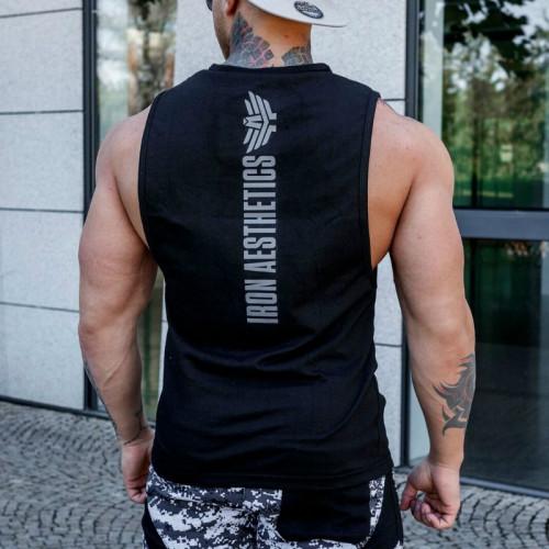 Pánské fitness tílko Iron Aesthetics Skull, černé