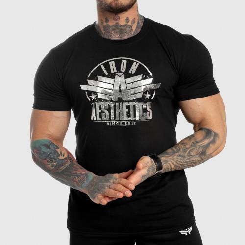 Pánské fitness tričko Iron Aesthetics Force, silver