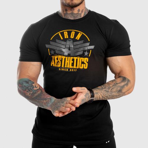 Pánské fitness tričko Iron Aesthetics Force, černé