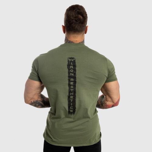 Pánské fitness tričko Iron Aesthetics Force, zelené