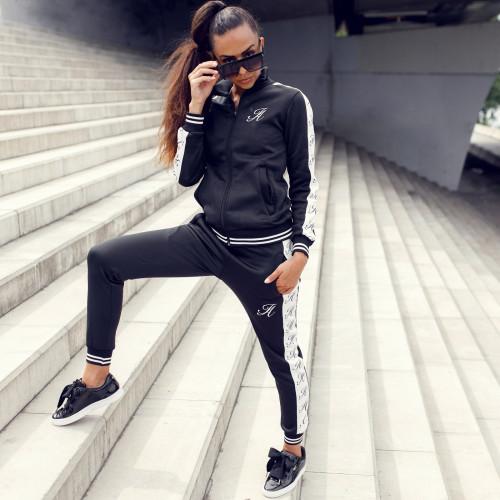 Dámská sportovní souprava Iron Aesthetics Stripes, černá