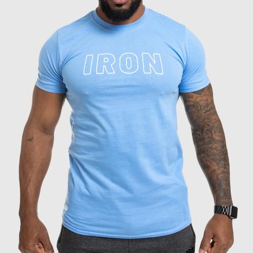 Pánské fitness tričko IRON, modré