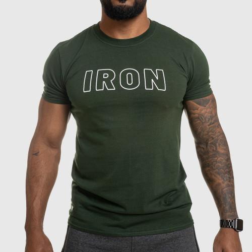 Pánské fitness tričko IRON, zelené