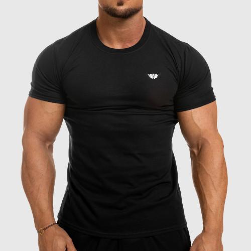 Pánské fitness tričko Iron Aesthetics Standard, černé