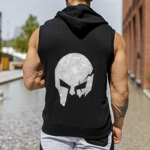 Pánská mikina Iron Aesthetics Sleeveless Skull, black&grey