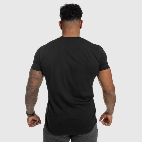 Pánské fitness tričko IRON, černé