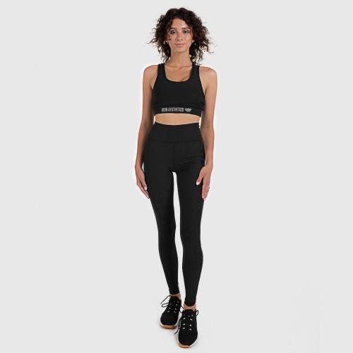 Dámská fitness souprava Iron Aesthetics Pocket, černá