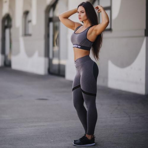 Dámská fitness souprava Iron Aesthetics Heart, šedá