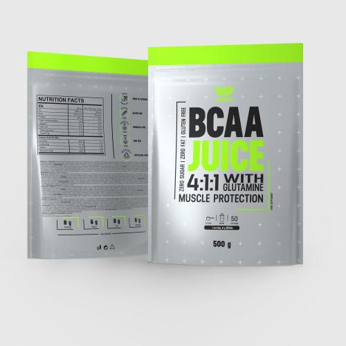 BCAA Juice 4:1:1 + Glutamin 500 g - Iron Aesthetics