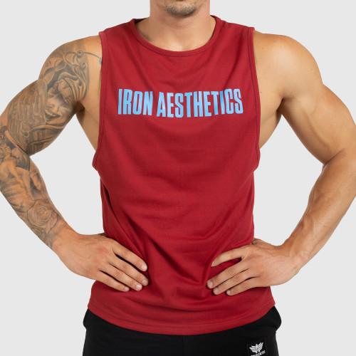 Pánske fitness TIELKO Iron Aesthetics Signature, červené