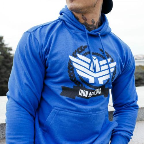 Fitness mikina bez zipu Iron Aesthetics Triumph, modrá