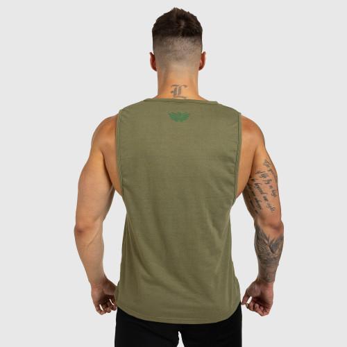 Pánske fitness TIELKO Iron Aesthetics Signature, vojenská zelená